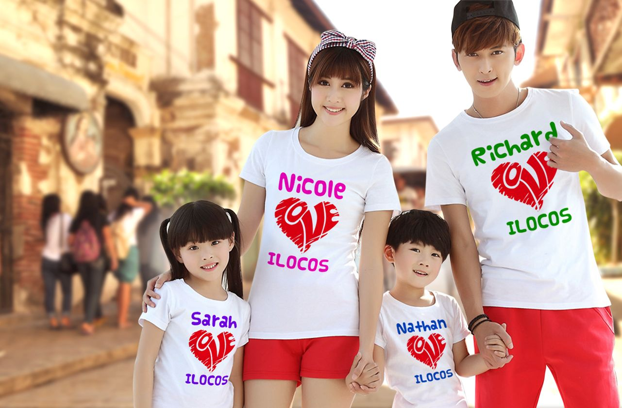 family outing customize shirt for travel