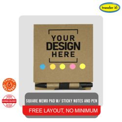 Square Memo Pad w/ Sticky Notes and Pen Thumbnail