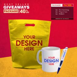 Package 1 - Eco Hand Bag, Mug & Ballpen Thumbnail