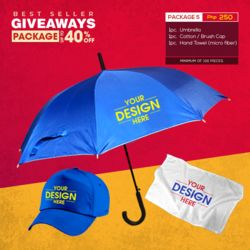 Package 5 - Umbrella, Brush Cap & Microfiber Hand Towel Thumbnail