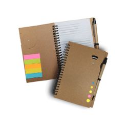 NOTEBOOK w/ STICKY NOTES w/ PEN & DATE Thumbnail