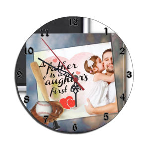 Round Personalized Wall Clock Thumbnail